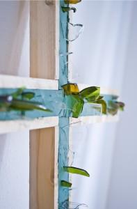 Kreuz Jesu - Scherbenkreuz, klein